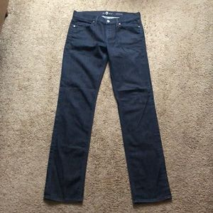 Men's 7 for all mankind slimmy dark & clean jeans